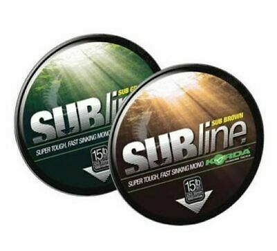 Korda Subline Carp Mono All Sizes 1000m Green And Brown Brand New • 19.60£