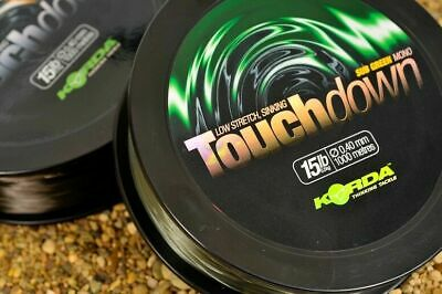 Korda Touchdown Sinking Mono 1000m Spools - All Sizes & Colours NEW • 19.95£