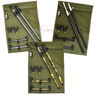 Carp Fishing 2 Rod Buzz Bar Set & Bank Sticks Buzz Bar Bag U Rod Fishing Rests • 14.95£