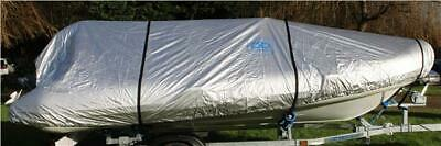 Ducksback Boat Cover 12-14 Ft Rib / Speed / Sport Waterproof Quality (silver)  • 57£