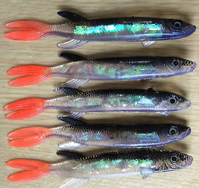 Pike Perch & Bass Pollack Soft Plastic Holo Lures - Multi Listing Pack Of Lures  • 1.45£