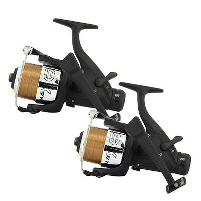 2 X CARP RUNNER FISHING REELS WITH 10LB LINE NGT FISHING TACKLE • 25.09£