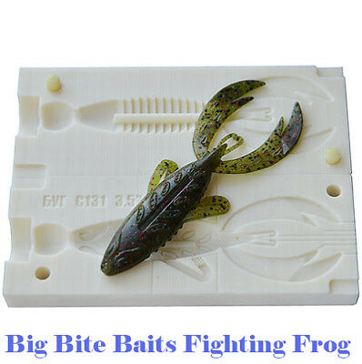 DIY Injection Bait Mold Fighting Frog C131 3.5  / 90 Mm CNC Mold • 14.31£