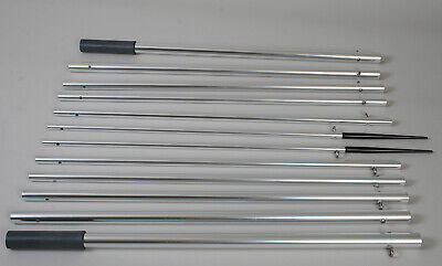 Lees Tackle 18.5ft Bright Silver Outrigger Poles (ap3519) • 544.72£