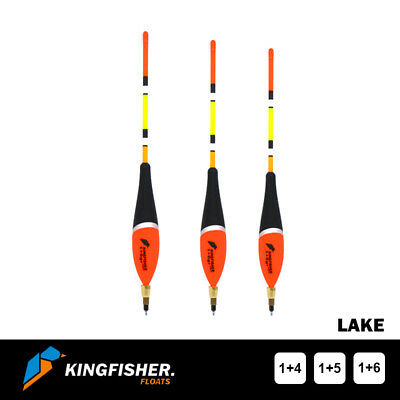 WAGGLER FISHING FLOAT The Kingfisher  Lake  Pack Of 3 - Premium Quality • 7.80£