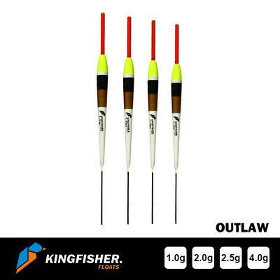POLE FISHING FLOATS - The Kingfisher  Outlaw  Pack Of 4 HIGH QUALITY • 6.70£