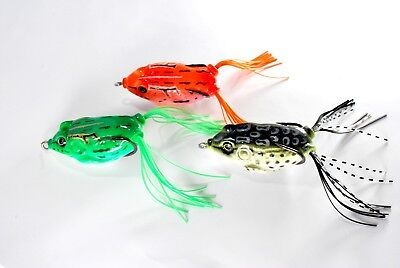 Green/orange/dark Savage Frogs Surface Baits Soft Rubber Fishing Gear Lure Pike  • 2.95£