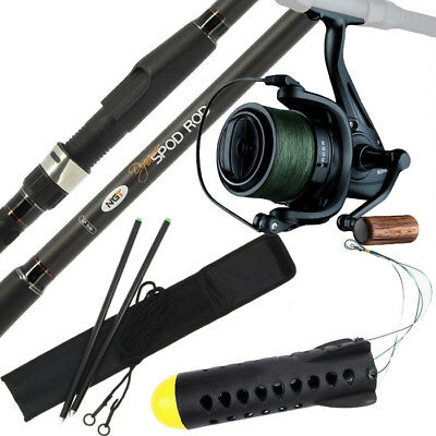 SPOD MARKER ROD AND REEL SET WITH SONIK SPOD REEL & 30lb BRAID CARP FISHING • 101.59£