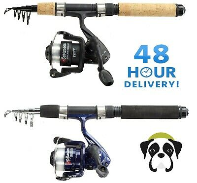 Ngt Mini Telescopic 5ft Travel Fishing Rod 5ft Pen Rod + Reel Combo • 16.95£