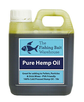 100% Pure Hemp Oil 1ltr - Fishing Bait, Carp, Bait Dip, PVA Friendly - 1 Litre • 13.95£