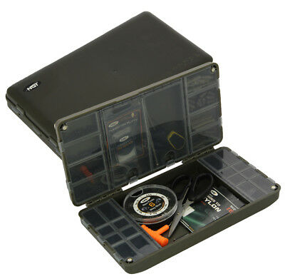 Fishing Tackle Box Terminal Tackle System Ngt Xpr Carp Box Swivels Hooks • 12.95£