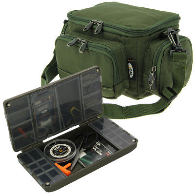 Xpr Fishing Tackle Box System And Mini Ngt Carp Stalking Bag For Terminal Ngt • 22.95£