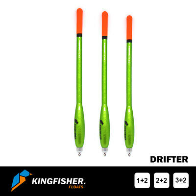 WAGGLER FISHING FLOATS The Kingfisher  Drifter  Pack Of 3 - Premium Quality • 6.60£