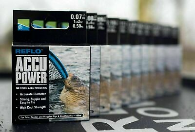 Preston Innovations Reflo Accu Power Rig Mono Fishing Line All Sizes NEW • 5.30£