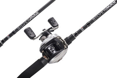 Abu Garcia Silver Max Baitcasting Combo Left Handed Reel • 80.99£