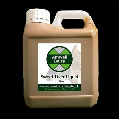 1 Litre Sweet Liver Liquid - Glug / Dip Fishing Bait - Carp, Tench, Catfish • 9.99£