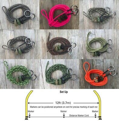 Paracord '12ft Distance Sticks Marker Cord' 3 Grenade Markers 'Carping Cordage'  • 6.50£