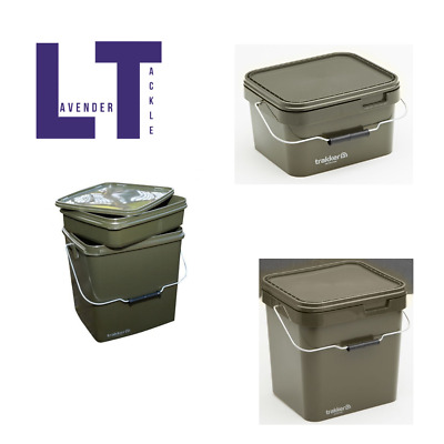 Trakker NEW Square Olive Containers -*All Sizes Available*- Fishing Bait Buckets • 12.99£