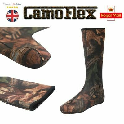 Neoprene Wellington Boot Sock Liner Fishing Hunting Hiking Muck Socks Camo • 13.90£
