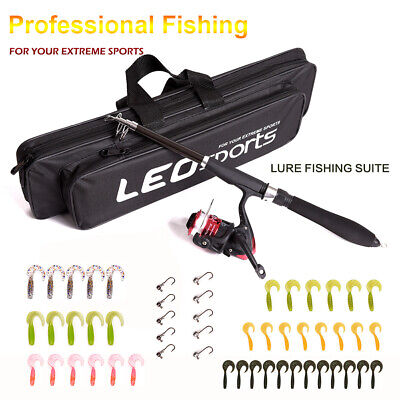 Telescopic Fishing Rod And Reel + Lure + Bag Set Coarse Carp Sea Pike Fishing • 14.25£