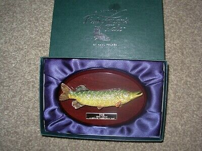 Fishermans Tale By Paul Folkes Northern Pike Fish Figurine Replica • 21.99£