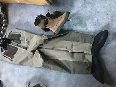 Airflo Chest Waders Size L And Fishing Boots Size 10 • 15£
