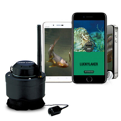 LUCKY FF3309 Wifi Underwater Fishing Camera For 80M Wireless 120 Degrees 125kHz • 96.99£