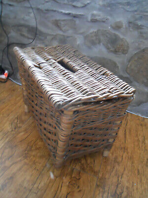 Vintage - Wicker Fishing Creel / Basket / Storage / Log Basket • 35£