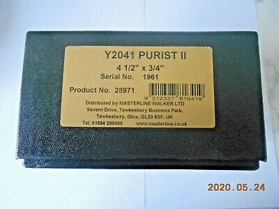 JWYOUNGS  PURIST 11 4.50 X3/4  Y2041 CENTREPIN BOXED WITH CERTIFICATE 2017 • 265£