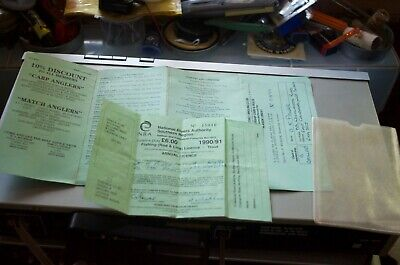 NRA Trout License  And Isfield Club License1991 • 3.50£