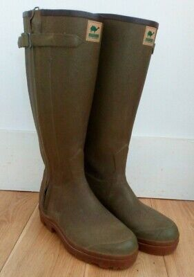 Le Chameau Chasseur Leather Lined Wellies Wellington Boots SIZE 41 UK 7 • 49.99£