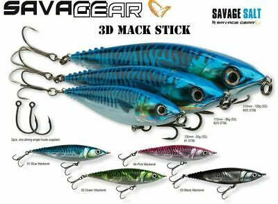 Savage Gear 3d Mack Stick Ready To Fish Predator Lures - Bargain • 9.90£