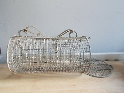 Old Creel, Basket For Fishing, Shells • 32.77£