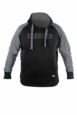 Preston Innovations Black Pullover Hoodie NEW All Sizes • 29.95£