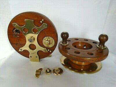 A Rare Antique Frog Back Wood & Brass Fishing Reel By Milward's Of Redditch • 245£