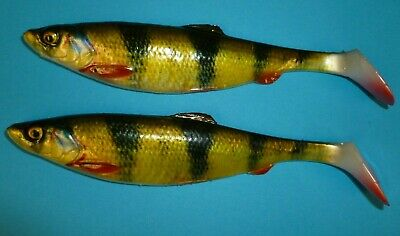 Savage Gear 4d 16cm Perch Shads 28gm 2pcs Bargain Of The Year !  Predator Lures • 6.95£