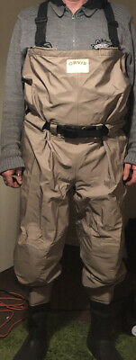 Orvis Chest Waders Size L11. Excellent Condition. Lined. Double Chest Pocket • 64.55£