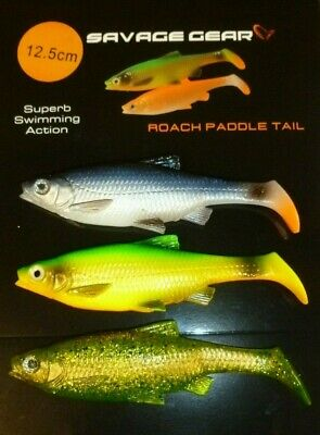 Savage Gear Mixed 12.5cm Paddle Tail Lures 3pcs Great Fish Catching  ! Bargain • 5.99£