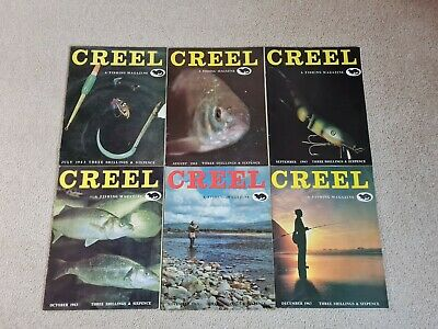 Vintage Creel Fishing Magazine 1963 ( 6 Issues) • 60£