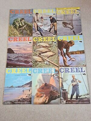 Vintage Creel Fishing Magazine 1966 ( 9 Issues) • 90£