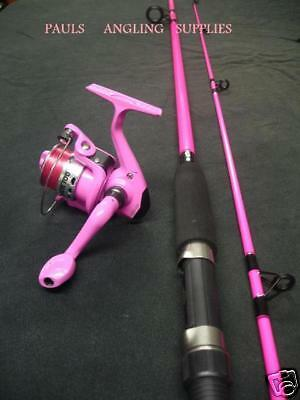 New Pink Fising Rod & Pink Fishing Reel With Line Fitted To Reel • 29.95£