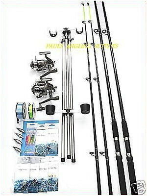 Sea Fishing Beachcaster Kit * 13 FT* Rods Reels Tripod Tackle Weights Line  • 138.22£
