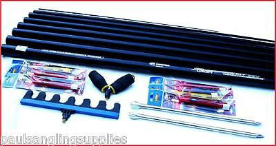 8m   Ambassador Fishing Pole 14 Elastic Fitted & Float Rigs Roost Roller Rest • 61.44£