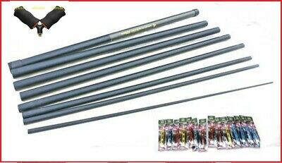 Shakespeare  8m Margin Pole Ready 12 Elastic Fitted 14 Carp Pole Rigs & Roller • 52.76£
