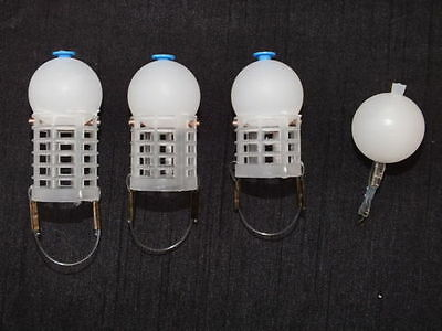 Set Of 4 Depth Charge Slow Sinking Feeders & Bomb,match,commercial,fishing • 11.99£