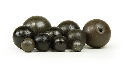 10 Drilled Ball Ledger Weights,coarse,river,fishing,choice Of Size / Weight • 5.40£