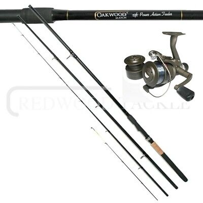 Axcede Rd 40 Reel & Oakwood 12ft Quiver/feeder Fishing Rod Combo • 26.47£
