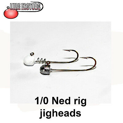 1/0 Ned Rig Jigheads (5pack) Jig Heads Various Colours • 4.55£