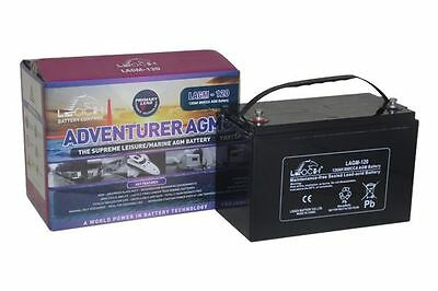 12V 120 AH Leoch Adventurer AGM Deep Cycle Outboard Motor Battery • 159.99£