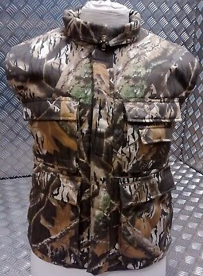 Hunters Action Vest Tree Camo Tactical Fishing Body Warmer All Sizes - NEW • 24.99£